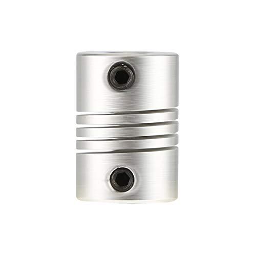 SeniorMar Acoplador de eje de mandíbula de motor CNC caliente de 6x6 mm Acoplamiento flexible de 6 mm a 6 mm OD 16x23 mm Venta superior color plata duradero