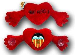 Peluche Corazon Abrazo Escudo Valencia Grande, 1 Unidad