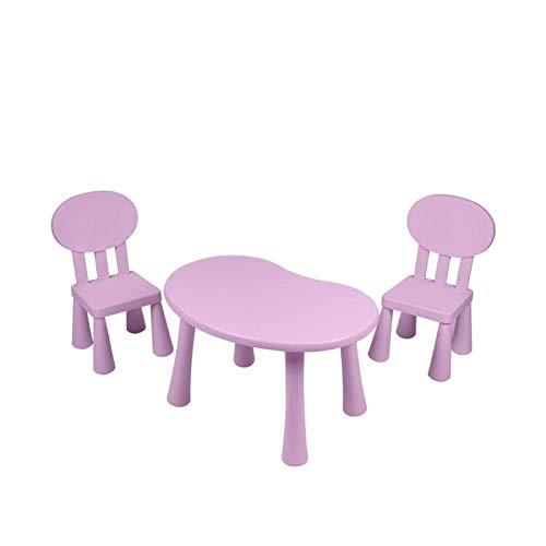 HIZLJJ Escritorio niños Mesa de niño y Juego de sillas Mesa de jardín de Infancia y sillas Mesa de Estudio Home Escritura Juguete de la Tabla (Color : Pink)