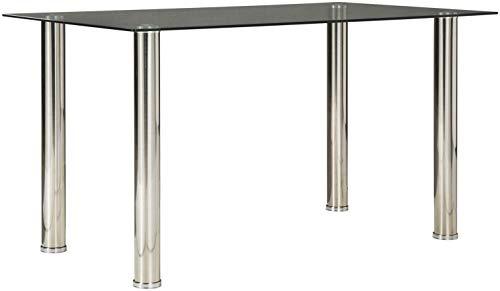 Signature Design by Ashley Sariden Dining Room Table, Chrome Finish