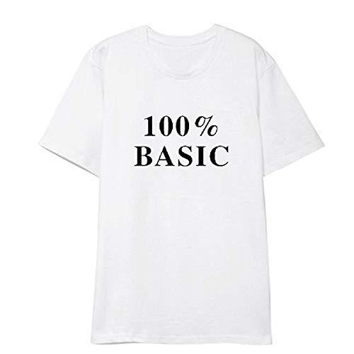 APHT Blackpink Camisetas Fashion T-Shirt de Manga Corta Impresión Tops Costura Cuello Redondo de Verano 100% Basic Tees para Hombres y Mujeres