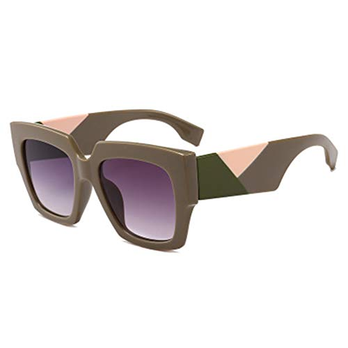 AEF Gafas Sol Polarizadas con Montura Cuadrada Gran Tamaño para Mujer UV400,1