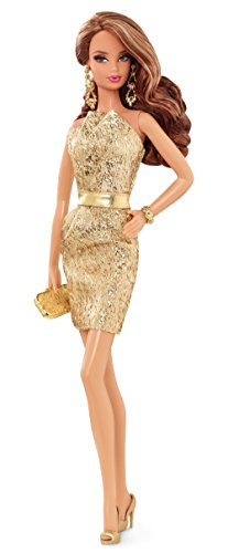 Barbie - Muñeca Look Gold Dress (Mattel CFP36)
