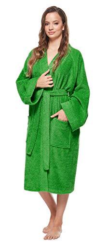 Arus Albornoz Kimono para Mujer, Verde Césped, S/M