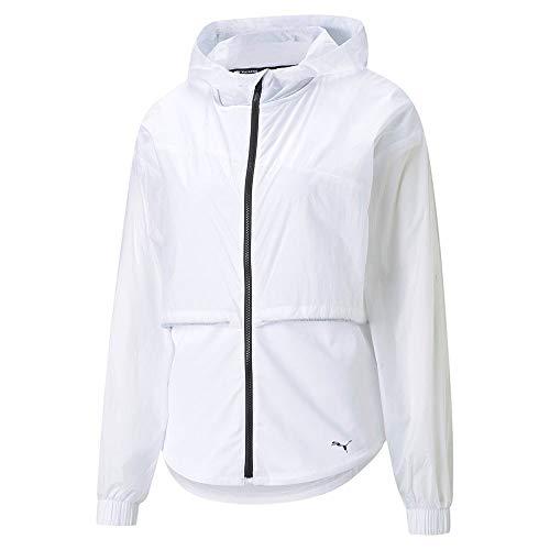 PUMA Train Ultra Hooded Jacket Chaqueta De Entrenamiento, Mujer, White, XL