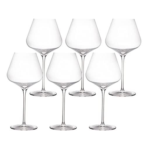 HYAN Copa de Vino Copas de Vino de Cristal soplado a Mano - Embalaje de Regalo para Cualquier ocasión: Vidrio cristalino Premium Libre de Plomo - Conjunto de 2/6 Copas de champán (Color : 710ml*6)