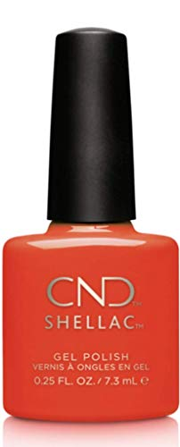CND Shellac Nail Polish, Electric Orange, 0.25 fl. oz.