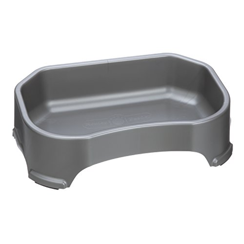 Neater Pet Brands Big Bowl - Extra Large Plastic Water Bowl for Dogs, 1.25 Gallon/ 160 Oz. Capacity, Gunmetal Grey