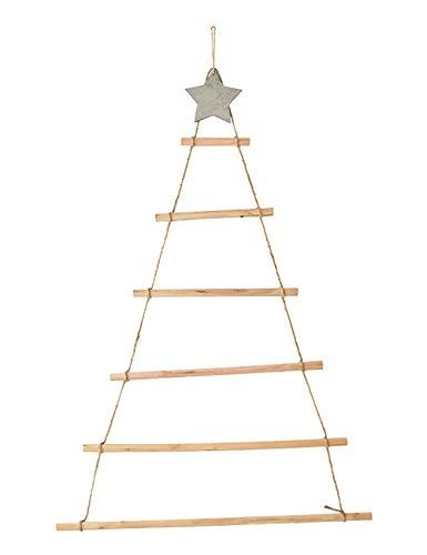 ShiyiUP, albero di Natale creativo in legno, ciondolo da parete fai da te, decorazione legno