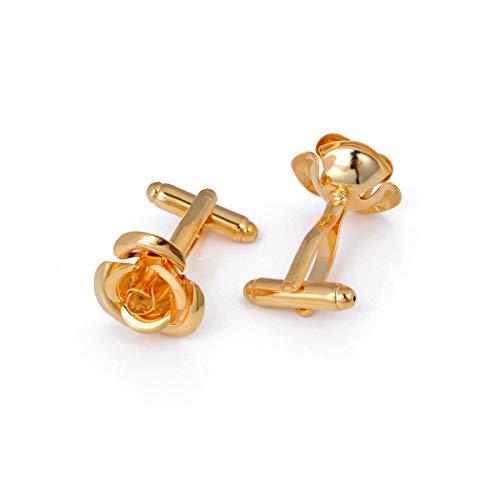 U/K ExquisitRose Form Manschettenknöpfe K Gold Rose Metall Manschettenknöpfe Romantische Blumen Manschettenknöpfe Retro Manschettenknöpfe Unisex Gold Umweltfreundlich und praktisch