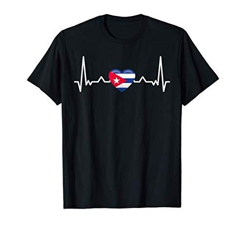 Mi corazón late por Cuba - bandera del país Camiseta