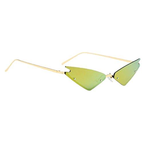 Bonarty Gafas de Sol con Protección UV400 para Mujer, Gafas, Tonos de Diseñador Vintage - Amarillo