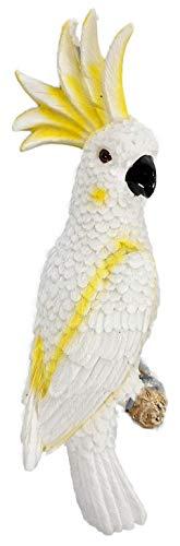 Kakadu zum aufhängen 31 x 9 cm Papagei Vogel Tier Figur Deko GAC E19