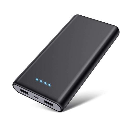 Trswyop Powerbank 26800mAh 【Neue Schwarz-Grau Design】 Externer Akku hoher Kapazität 2 USB Ports Output Schnellladung Portable Ladegerät mit 4 LED-Anzeigen Akku Pack für Handy, Tablet und USB-Gerät