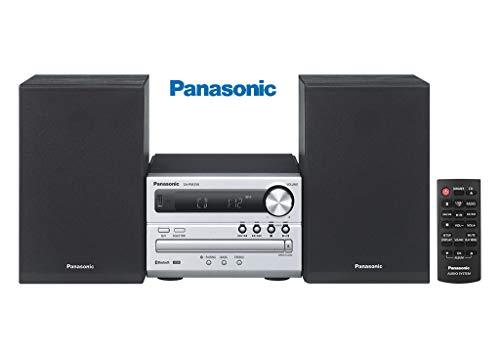 Panasonic Micro HiFi Bluetooth, CD, USB Playback and Charge, Remote Control SC-PM250GS-S