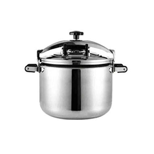 APTBJKUiU Multifunktionaler Schnellkochtopf Schnellkochtopf mit großer Kapazität Gewerblicher Küchentopf, Silikondichtring, sichere Verwendung, 22 l / 30 l / 40 l (Color : Silver, Size : 22L)