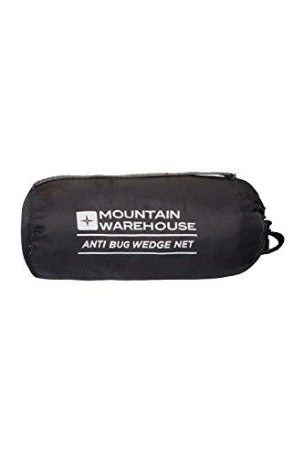 Mountain Warehouse Insektennetz in Keilform - Feines Moskitonetz mit Wabenmuster, Insektenschutz, Transportbeutel, strapazierfähig - Ideal für Reisen, Camping Weiß Einheitsgröße