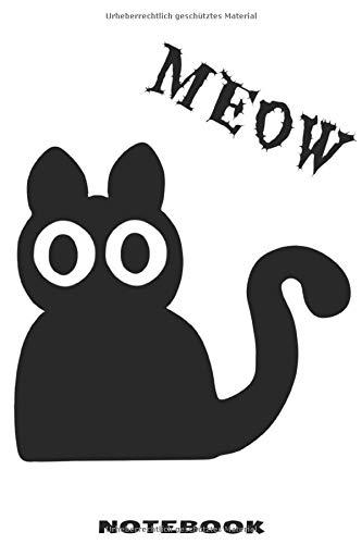 MEOW NOTEBOOK: Blanko Notizbuch mit schräger Katze Design für Männer und Frauen