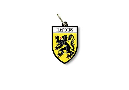 Sleutelhanger Sleutelhanger Ring Vlag Nationale Souvenir Schild Vlaanderen België