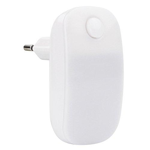ANSMANN LED Nachtlicht in weiß mit integriertem AN/AUS Schalter - LED Leuchte stromsparend - Orientierungslicht für die Steckdose - Nachtlampe als Beleuchtung für Schlafzimmer Flur Keller Garage