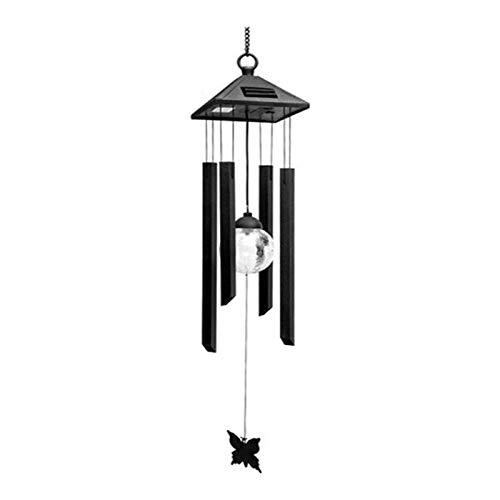 Lshbwsoif Carillones de viento LED al aire libre de energía solar carillón de viento colorido LED luz jardín patio balcón decoración lámpara colgante luces decorativas patio