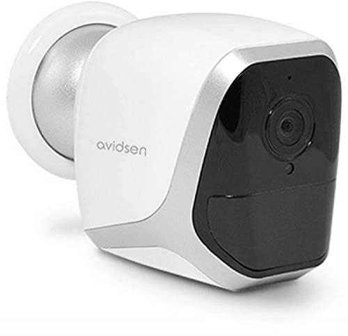 Avidsen - Telecamera IP WiFi per esterno/interno, connessione Wi-Fi, plug and play, autonoma a batterie o adattatore USB, rilevatore di movimento, 720p, visione a 110°, illuminazione a infrarossi
