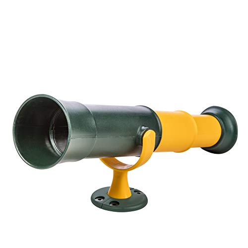 Jack and June Signature Green and Yellow Telescope Playset Attachment Featuring 360 Degree Spin