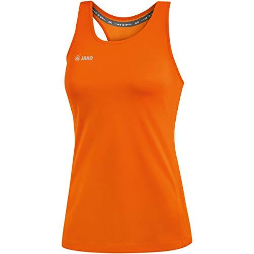JAKO Débardeur pour Femme, Taille 34, Orange Fluo