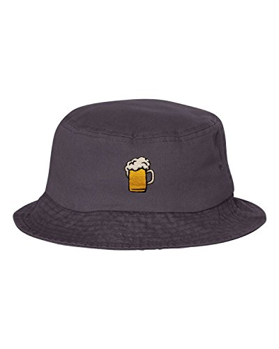 Go All Out One Size Charcoal Adult Beer Mug Embroidered Bucket Cap Dad Hat