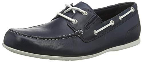 Rockport Malcom Camp Moc Loafer, Mocasines Hombre, Azul Nuevo Vestido Blues 001, 44.5 EU