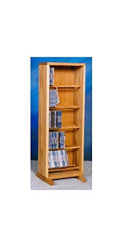 Dowel CD Storage Tower in Honey Oak Finish (Honey Oak)