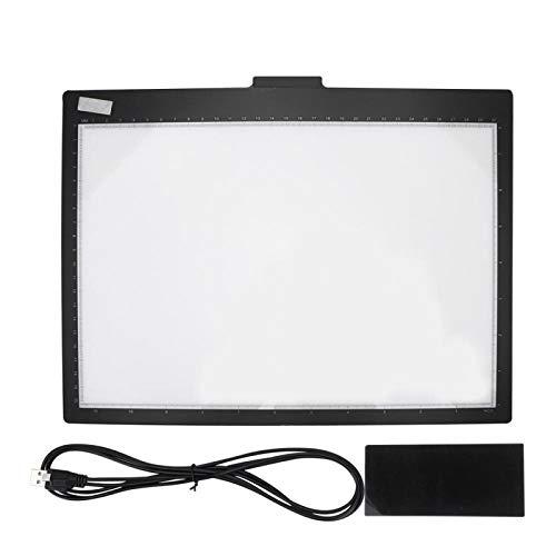 Caja de luz de Tablero de Copia Led de rastreo A4 portátil, Caja de luz de Almohadilla de rastreo con Brillo Regulable para Dibujar, cómic