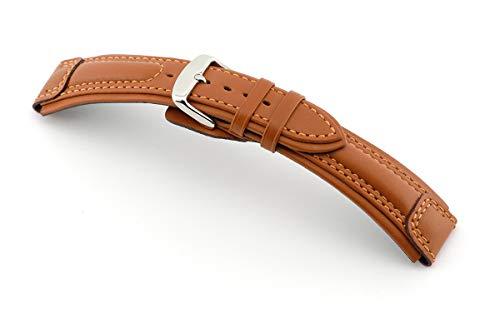 RIOS1931 Apulia Uhrenband handgemacht in Deutschland Klassisch 20mm Cognac