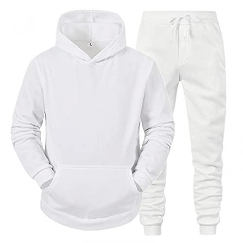 Camiseta Deporte Hombre Hoody Sudadera+Pantalones Hombre Chandal Conjunto Hombres Color SóLido CháNdal Hombres Completo Barato Regalos Practicos para Adolescente/Juvenil/Hombre 5 Colors M~Xxxl