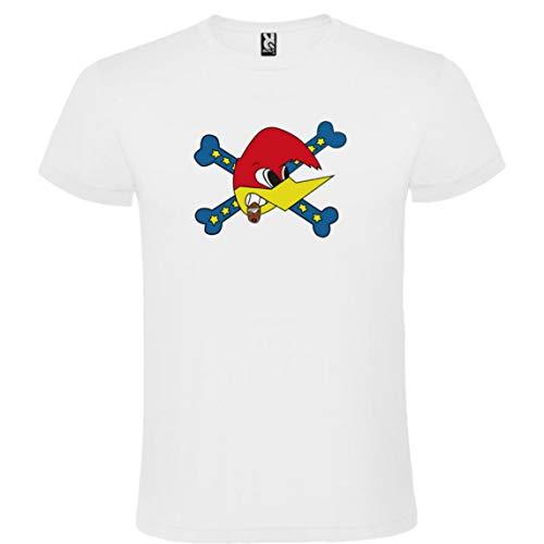 ROLY Camiseta Blanca con Logotipo de Loquillo Hombre 100% Algodón Tallas S M L XL XXL Mangas Cortas (M)