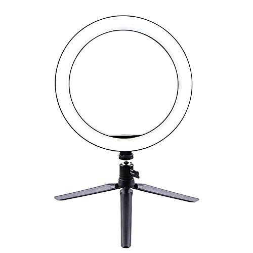 Fotografie LED selfie unaccented 260mm Dimbare Camera Phone Lamp Met Tafel statieven Auto accessoires (Color : A)