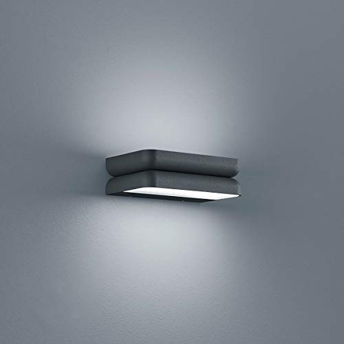 Helestra LED Wand-Außenleuchte Snap IP54 1680jm Graphit