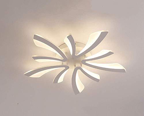 HJW Iluminación Práctica Lámpara de Techo Led Moderna Lámpara de Techo Regulable para Dormitorio con Control Remoto Luces Múltiples Simples Semi Empotradas para Cocina Sala de Estudio Lámpara de Arañ