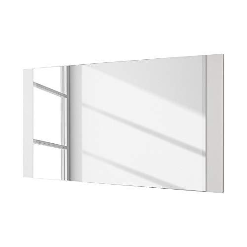 Robas Lund Ocean Miroir Cadre, MDF laqué Brillant, Blanc, 2 x 90 x 68 cm