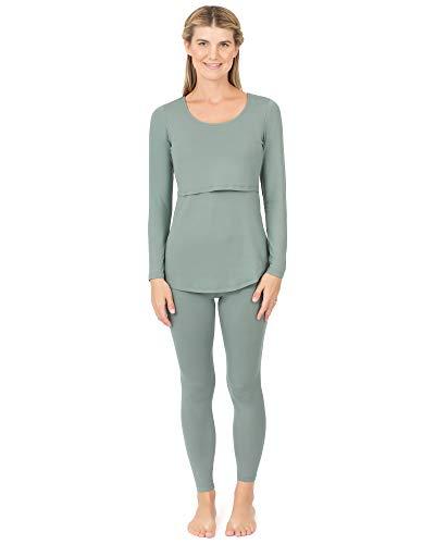 Kindred Bravely Jane Maternity & Nursing Pajama Set | Nursing Pajamas for Breastfeeding (Sage, Small)