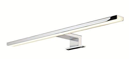 Gedotec LED Spiegelleuchte für Badezimmer Spiegellampe Bad-Leuchte AALTO Aluminium Chrom poliert | Länge 500 mm | warmweiß 3000 K | IP44 geprüft | 8W 230V | 1 Stück - Aufbauleuchte Spiegel-Schrank