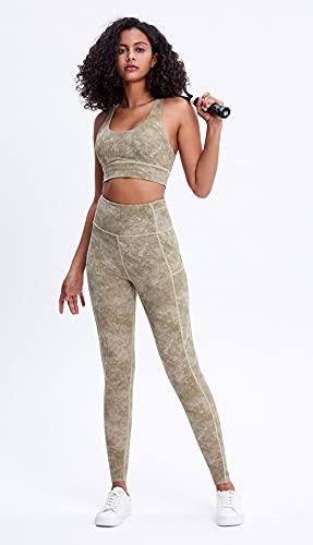 ArcherWlh Leggings Push Up Mujer,Nuevos Damas Europeas y Americanas Color sólido Cintura Altas Medias de Yoga Secado rápido Elástico Ejecutar Deportes Fitness Pantalones-Luz de Limpieza de Hielo_L