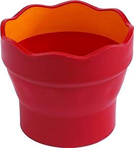 Faber-Castell - Vaso para mezcla de pinturas Clic & Go, color rojo
