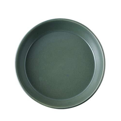 Borden Vaatwerk 26 * 6cm creatieve mat groene keramische theepot Keramische diepe soep huishoudelijke salontafel fruit Diner