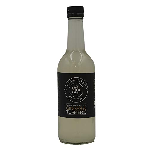 Fermented Fusions - Water Kefir Infused with Ginger and Turmeric - 6 x 500ml Bottles