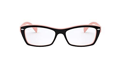 RX5255 Square Eyeglass Frames, Top Black On Pink/Demo Lens, 53 mm