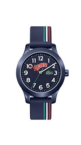 Lacoste Relógio infantil Lacoste.12.12 Quartzo com pulseira de silicone, várias cores, 14 (modelo: 2030028)