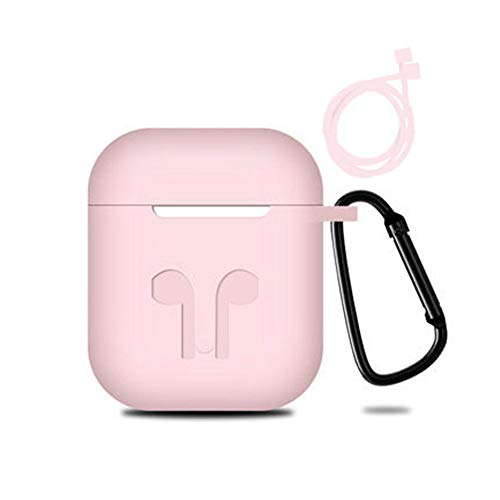 RRunzfon - Funda de silicona para auriculares Bluetooth inalámbricos para iPhone rosa rosa