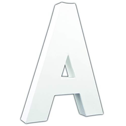 Décopatch AC700C - Un support en papier blanc mâché 3x16x20,5 cm, Lettre A