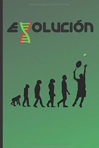 EVOLUCIÓN: CUADERNO 120 Pgs. REGALO ORIGINAL. DIARIO TENIS, CUADERNO DE NOTAS, APUNTES...